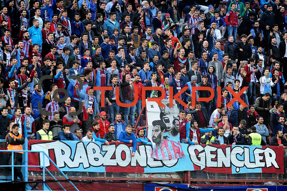 Trabzonspor's supporters during their Turkish SuperLeague Derby match Trabzonspor between Galatasaray at the Avni Aker Stadium at Trabzon Turkey on Sunday, 19 April 2015. Photo by TVPN/TURKPIX