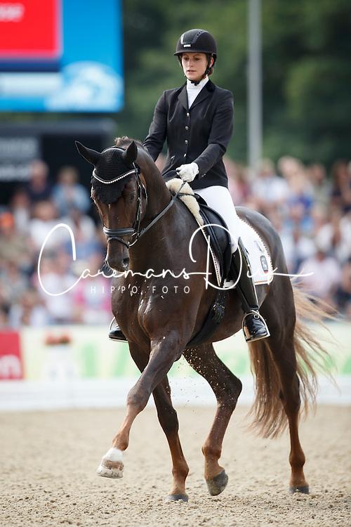 Nass Vera, (GER), Quantensprung 3<br /> Final 5 years old horses<br /> World Championship Young Dressage Horses - Verden 2015<br /> © Hippo Foto - Dirk Caremans<br /> 08/08/15