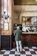 Milan, coffee time at Camparino Bar in Piazza del Duomo