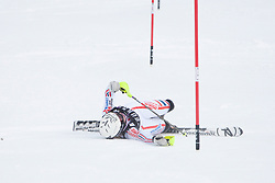 21.12.2010, Stade Emile Allais, Courchevel, FRA, FIS World Cup Ski Alpin, Ladies, Slalom, im Bild Tessa Worley (FRA) crashhes out  competing in the FIS Alpine skiing World Cup ladies slalom race in Courchevel 1850, France. EXPA Pictures © 2010, PhotoCredit: EXPA/ M. Gunn