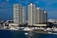 View of Marina in Miami Beach, Florida.