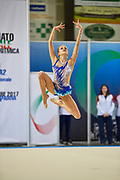 Anais Bardaro from Putinati  team during the Italian Rhythmic Gymnastics Championship in Padova, 25 November 2017.