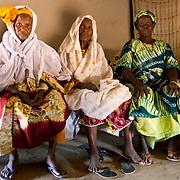 Three of Koumbadiouma's matriarchs spend Muslim New Year together. Kolda, Senegal.