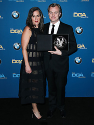 BEVERLY HILLS, LOS ANGELES, CA, USA - FEBRUARY 03: 70th Annual Directors Guild Of America Awards held at The Beverly Hilton Hotel on February 3, 2018 in Beverly Hills, Los Angeles, California, United States. 03 Feb 2018 Pictured: Emma Thomas, Christopher Nolan. Photo credit: IPA/MEGA TheMegaAgency.com +1 888 505 6342