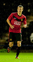 WIDNES, ENGLAND - Tuesday, October 6, 2009: Manchester United's Magnus Eikrem in action against Everton during the FA Premiership Reserves League (Northern Division) match at the Halton Stadium. (Pic by David Rawcliffe/Propaganda)