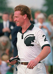 Major James Hewitt at the Royal Berkshire Polo Club after playing in a match in aid of the Kuwait and British Women's Support Group.