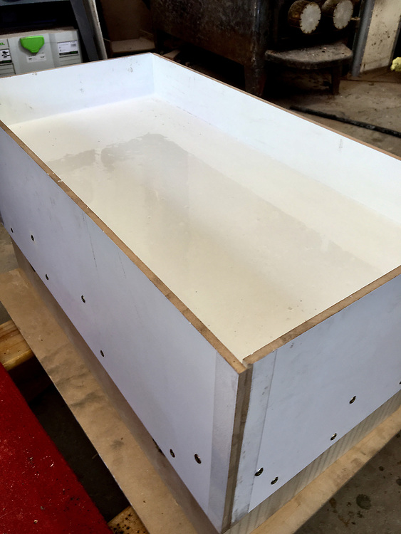plaster poured into mold chair making, jigs, patterns, molds