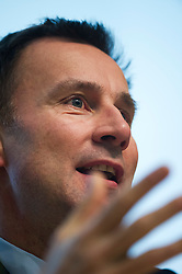 © London News Pictures. 12/02/2013 . London, UK.  Secretary of State for Health, Jeremy Hunt speaking at an NHS reform conference at the Royal College of Obstetricians and Gynaecologists in London on February 12, 2013.  Photo credit : Ben Cawthra/LNP