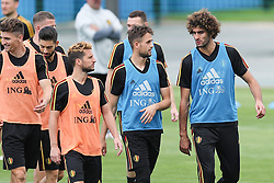 June 26, 2018 - Dedovsk, RUSSIA - Belgium's Dries Mertens, Belgium's Adnan Januzaj and Belgium's Marouane Fellaini pictured during a training session of Belgian national soccer team the Red Devils in Dedovsk, near Moscow, Russia, Tuesday 26 June 2018. The team is preparing for their third game at the FIFA World Cup 2018. BELGA PHOTO BRUNO FAHY (Credit Image: © Bruno Fahy/Belga via ZUMA Press)