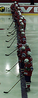 Icehockey. Qualification Olympic Games. Norway-Germany 8 january 2001. Norge-Tyskland, Jordal Amfi. Norge.