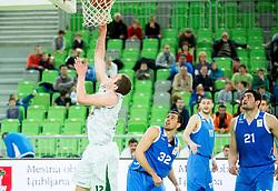 Vasilije Vucetic #12 of KK Unio Olimpija during basketball match between KK Union Olimpija Ljubljana and BC Levski Sofia (BUL) in 12th Round of ABA League 2014/15, on December 13, 2014 in Arena Stozice, Ljubljana, Slovenia. Photo by Vid Ponikvar / Sportida