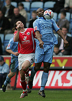 Photo: Lee Earle.<br /> Coventry City v Barnsley. Coca Cola Championship. 17/03/2007.Coventry's Dele Adebola (R) and Barnsley's Sam Togwell.
