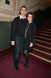 NATASHA KAPLINSKY and JUSTIN BOWER at the opening night of Cirque du Soleil's award-winning production of Quidam at the Royal Albert Hall, London on 7th January 2014.