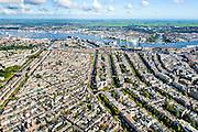 Nederland, Noord-Holland, Amsterdam, 27-09-2015; Binnenstad van Amsterdam,  overzicht van het Westelijk deel van de Grachtengordel en het noordelijk deel van de Jordaan. Aan het IJ de Westelijke Eilanden en Westerdok, Amsterdam Noord in het verschiet.<br /> Jordaan neigbourhood and belt of Canals, Amsterdam City Centre.<br /> <br /> luchtfoto (toeslag op standard tarieven);<br /> aerial photo (additional fee required);<br /> copyright foto/photo Siebe Swart