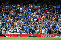 Cricket - 2019 ICC Cricket World Cup - Group Stage: India vs. Australia<br /> <br /> India fans celebrate a 6 from Virat Kohli, at The Kia Oval.<br /> <br /> COLORSPORT/ASHLEY WESTERN