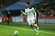 Dele Alli of Tottenham Hotspur in action. UEFA Champions league match, group E, Tottenham Hotspur v CSKA Moscow at Wembley Stadium in London on Wednesday 7th December 2016.<br /> pic by John Patrick Fletcher, Andrew Orchard sports photography.