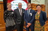The three finalists in the Ahuwhenua Trophy - Maori Excellence in Farming Dairy 2021 were announced at Parliament. <br /> <br /> Pouarua Farms. The farm is located near the township of Ngatea on the Hauraki<br /> Plains, close to Thames.<br /> <br /> Tataiwhetu Trust. This property is located in the Ruatoki Valley south of Whakatane.<br /> <br /> Tunapahore B2A Incorporation. The farm consists of 376ha located at Hawai <br /> <br /> Ahuwhenua Trophy Excellence in Māori Farming Award 2021 for Dairy. February 2021. Photo by alphapix.nz<br /> <br /> CONDITIONS of USE:<br /> <br /> FREE for editorial use in direct relation the Ahuwhenua Trophy competition. ie. not to be used for general stories about the finalist or farming.<br /> <br /> NO archiving of images. NO commercial use. <br /> Please contact John@alphapix.co.nz if you have any questions