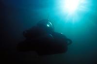 Deep Worker Submersible in Monterey Harbor, California.
