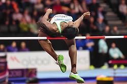 March 2, 2018 - Birmingham, Gangwon, United Kingdom - Lecabela Quaresma ofPortugal at high jump Pentathlon at World indoor Athletics Championship 2018, Birmingham, England on March 2, 2018. (Credit Image: © Ulrik Pedersen/NurPhoto via ZUMA Press)
