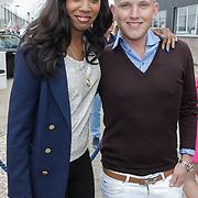 NLD/Amsterdam/20120601 - Uitreiking Talkies Terras Awards 2012, Jasmine Sendar en Wim Glas