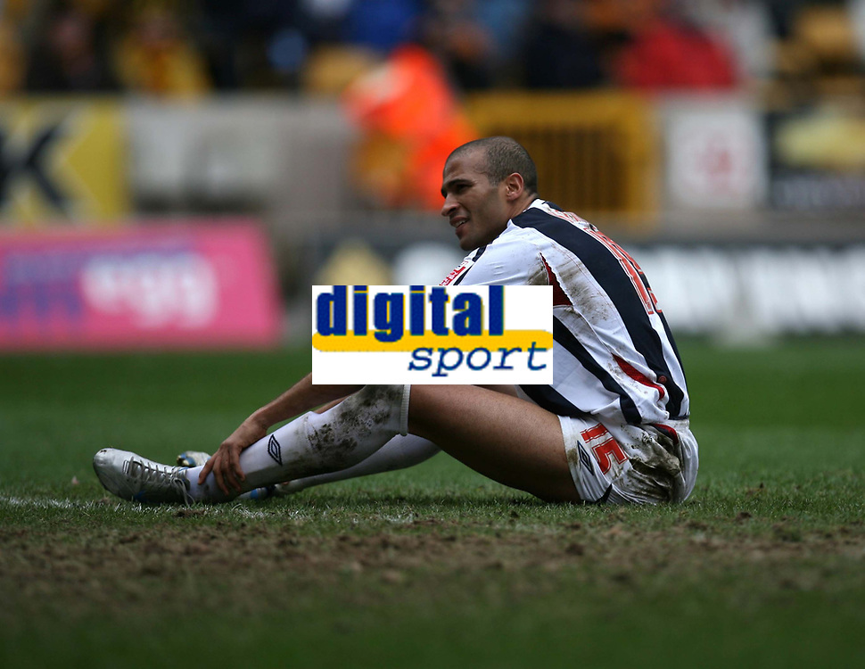 Photo: Rich Eaton.<br /> <br /> Wolverhampton Wanderers v West Bromwich Albion. The FA Cup. 28/01/2007. West Broms Diomansy Kamara rues missing a chance late in the second half