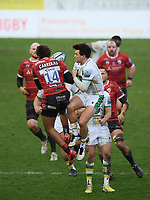 Rugby Union - 2020 / 2021 Gallagher Premiership - Gloucester vs Northampton Saints - Kingsholm<br /> <br /> Gloucester's Santiago Carreras clashes with Northampton Saints' George Furbank resulting in both players leaving the pitch injured.<br /> <br /> COLORSPORT/ASHLEY WESTERN