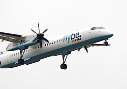 The flybe plane on approach to Edinburgh airport..©Pic : Michael Schofield.