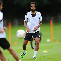 TELFORD COPYRIGHT MIKE SHERIDAN Brendon Daniels during AFC Telford United return to training at Lilleshall National Sports Centre on Saturday, July 4, 2020.<br /> <br /> <br /> Picture credit: Mike Sheridan/Ultrapress<br /> <br /> MS202021