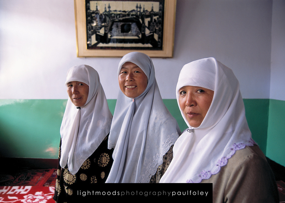 Women muslim teachers at girls school in Dongtui Village near Wuzhong City. Ningxia Province, China.