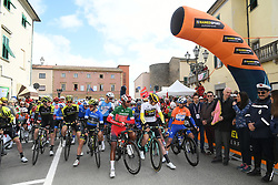March 15, 2019 - Pomarance, Pisa, Italia - Foto Gian Mattia D'Alberto / LaPresse.15/03/2019 Pomarance (Italia) .Sport Ciclismo.Tirreno-Adriatico 2019 - edizione 54 - da Pomarance a Foligno  (226 km) .Nella foto: Adam Jates GBR, Laurens De Plus, Natnael Berhane ERI, Julian Alaphilippe FRA..Photo Gian Mattia D'Alberto / LaPresse .March 15, 2018 Pomarance (Italy).Sport Cycling.Tirreno-Adriatico 2019 - edition 54 - Pomarance to Foligno (140 miglia) .In the pic: Adam Jates GBR, Laurens De Plus, Natnael Berhane ERI, Julian Alaphilippe FRA (Credit Image: © Gian Mattia D'Alberto/Lapresse via ZUMA Press)
