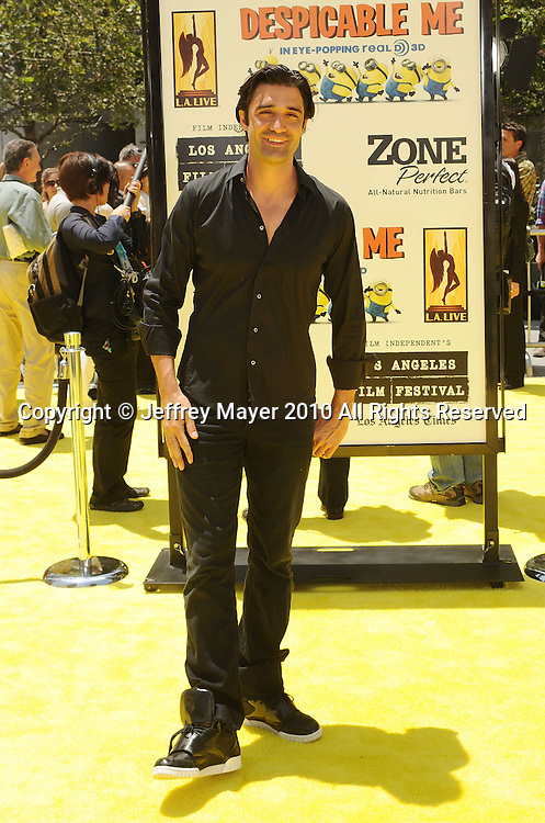 """LOS ANGELES, CA. - June 27: Gilles Marini arrives at the 2010 Los Angeles Film Festival - """"Despicable Me"""" Premiere on June 27, 2010 in Los Angeles, California."""