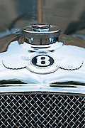 Vintage Bentley four and a half litre luxury car built in 1929 and classic Bentley logo