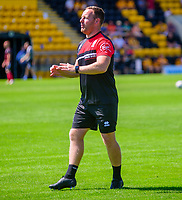 Lincoln City's first team development coach Richard O'Donnell during the pre-match warm-up<br /> <br /> Photographer Andrew Vaughan/CameraSport<br /> <br /> Football Pre-Season Friendly - Boston Utd v Lincoln City - Saturday 17th July 2021 - Jakeman's Community Stadium - Boston<br /> <br /> World Copyright © 2021 CameraSport. All rights reserved. 43 Linden Ave. Countesthorpe. Leicester. England. LE8 5PG - Tel: +44 (0) 116 277 4147 - admin@camerasport.com - www.camerasport.com
