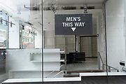 The interior of a closed retailer remains empty of stock or merchandise, on Oxford Streeton 8th July 2021, in London, England.