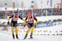 11.12.2011, Biathlonzentrum, Hochfilzen, AUT, E.ON IBU Weltcup, 2. Biathlon, Hochfilzen, Staffel Herren, im Bild Wechsel von Greis Michael (Team Germany) auf Peiffer Arnd (Team Germany) // during Team Relay E.ON IBU World Cup 2th Biathlon, Hochfilzen, Austria on 2011/12/11. EXPA Pictures © 2011. EXPA Pictures © 2011, PhotoCredit: EXPA/ nph/ Straubmeier..***** ATTENTION - OUT OF GER, CRO *****