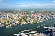 Nederland, Noord-Holland, Amsterdam, 09-04-2014; overzicht Amsterdam-Noord, met Banne Buiksloot, Buiklsotermeer, Nieuwendam en in het midden het Noord-Hollands kanaal.  <br /> Overview North Amsterdam.<br /> luchtfoto (toeslag op standard tarieven);<br /> aerial photo (additional fee required);<br /> copyright foto/photo Siebe Swart