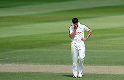 Dejection for Nottinghamshire's Ben Hilfenhaus - Photo mandatory by-line: Harry Trump/JMP - Mobile: 07966 386802 - 16/06/15 - SPORT - CRICKET - LVCC County Championship - Division One - Day Three - Somerset v Nottinghamshire - The County Ground, Taunton, England.