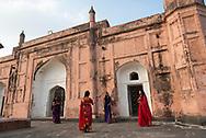 A group of young Bangladeshi women visit the 17th-century mausoleum of Bibi Pari in Lalbagh Fort in Dhaka, Bangladesh.