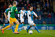Adam Armstrong of Blackburn Rovers   during the EFL Sky Bet Championship match between Blackburn Rovers and Preston North End at Ewood Park, Blackburn, England on 11 January 2020.