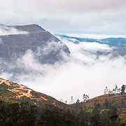 Fog over chachapoyas hills