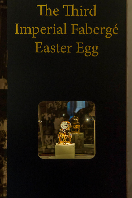 A newly discovered Fabergé Egg on display at jewellers Wartski, who arranged its sale to a private collector.  It will be on public view for the first time in over 100 years until Thursday, 17th April (11am to 5pm). Grafton Street, London UK, 7th April 2014.