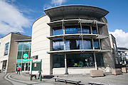 Modern architecture of new public library building Calne, Wiltshire, England