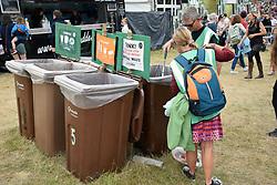 Latitude Festival 2017, Henham Park, Suffolk, UK. Sorting the recycling