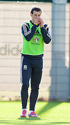 NEWPORT, WALES - Tuesday, October 7, 2014: Wales' Gareth Bale during training at Dragon Park National Football Development Centre ahead of the UEFA Euro 2016 qualifying match against Bosnia and Herzegovina. (Pic by David Rawcliffe/Propaganda)
