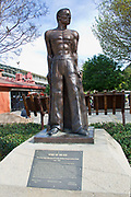 """Spirit of the CCC"" statue at Travel Town, Griffith Park, Los Angeles, California, USA"