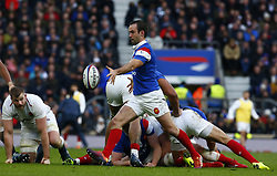 February 10, 2019 - London, England, United Kingdom - Morgan Parra of France..during the Guiness 6 Nations Rugby match between England and France at Twickenham  Stadium on February 10th, 2019 in Twickenham, London,  England. (Credit Image: © Action Foto Sport/NurPhoto via ZUMA Press)