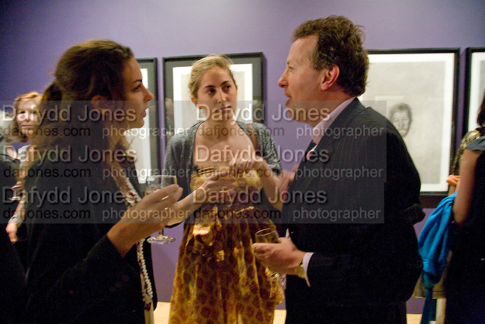 ROSE HANBURY, VIOLET NAYLOR-LEYLAND AND ORLANDO FRASER, Matthew Carr: New Work. Marlborough Gallery. Albermarle St. London. 24 June 2008.  *** Local Caption *** -DO NOT ARCHIVE-© Copyright Photograph by Dafydd Jones. 248 Clapham Rd. London SW9 0PZ. Tel 0207 820 0771. www.dafjones.com.