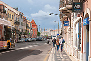 Street scene in Belem, Lisbon, Portugal