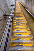 A stairwell leads up to a gun emplacement at the Diamond Head State Monument.