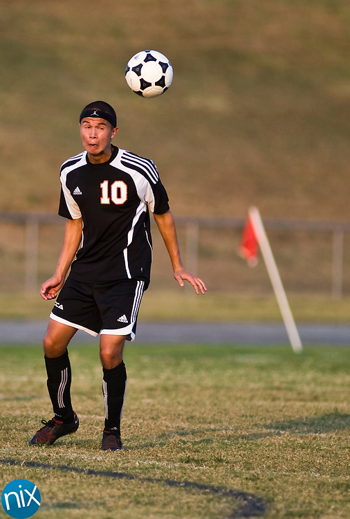 during South Piedmont Conference soccer action at Jay M. Robinson High School Tuesday night.  (Photo by James Nix)